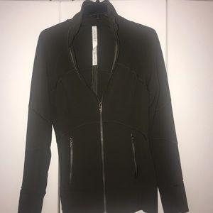 lululemon contour jacket size 8 dark olive